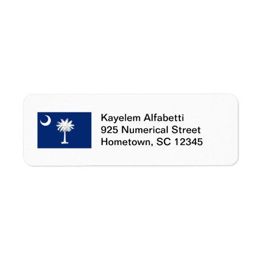 South Carolina Flag Return Address Label