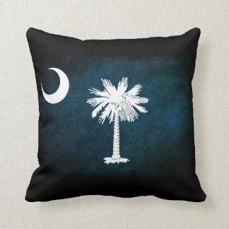 South Carolina Flag; Throw Pillow