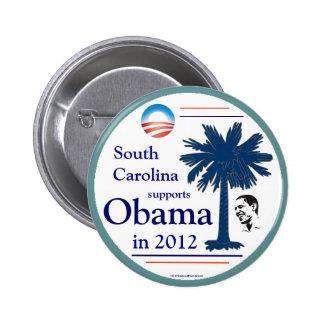 South Carolina for OBAMA in 2012 6 Cm Round Badge