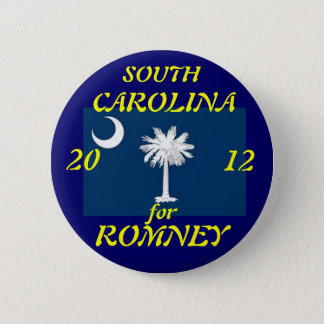 South Carolina for Romney 2012 6 Cm Round Badge