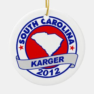 South Carolina Fred Karger Christmas Ornaments