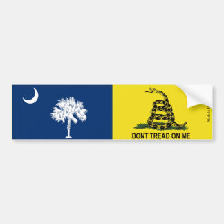 South Carolina & Gadsden Flag Bumper Sticker