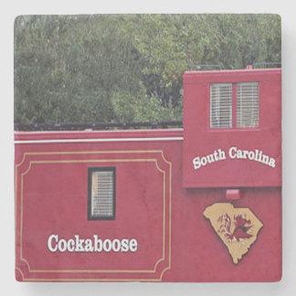 South Carolina Gamecocks Cockaboose Coaster. Stone Coaster