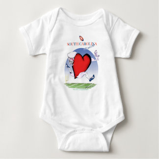 south carolina head heart, tony fernandes baby bodysuit