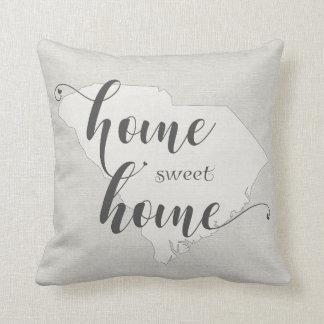 South Carolina - Home Sweet Home burlap-look Cushion