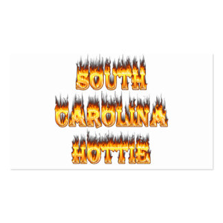 South Carolina hottie fire  and flames Pack Of Standard Business Cards