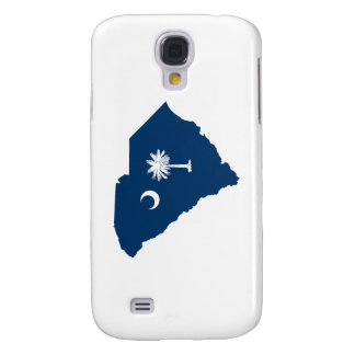 South Carolina in Blue and White Galaxy S4 Case