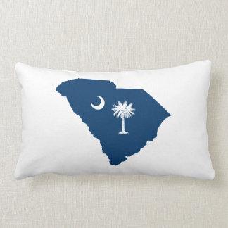 South Carolina in Blue and White Lumbar Cushion