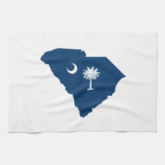 South Carolina in Blue and White Tea Towel