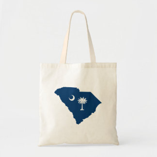 South Carolina in Blue and White Tote Bag