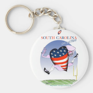 south carolina loud and proud, tony fernandes basic round button key ring
