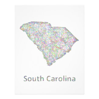 South Carolina map 21.5 Cm X 28 Cm Flyer