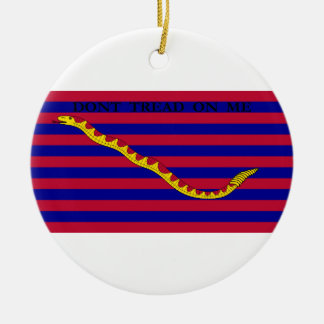 South Carolina Naval Flag during Revolutionary War Double-Sided Ceramic Round Christmas Ornament