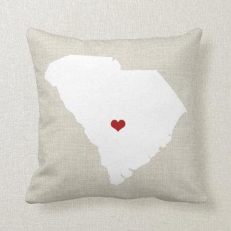 "South Carolina New Home State Pillow 16"" x 16"""