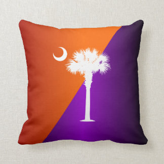 South Carolina Orange & Purple Cushion