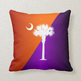 South Carolina Orange & Purple Throw Pillow