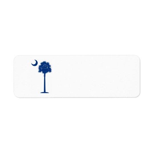 South Carolina Palmetto Return Address Label