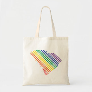 South Carolina Rainbow State Tote Bag