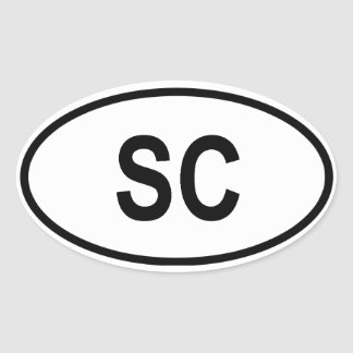 "South Carolina ""SC"" Oval Sticker"