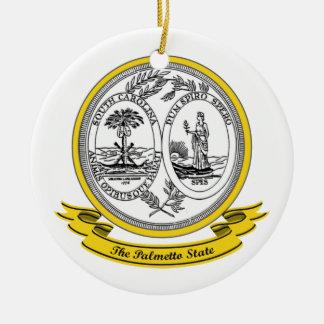 South Carolina Seal Round Ceramic Decoration
