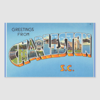 South Carolina, Sheet of 4 Charleston stickers