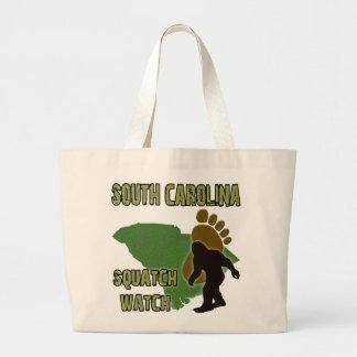 South Carolina Squatch Watch Large Tote Bag