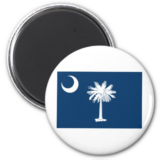 South Carolina State Flag 6 Cm Round Magnet