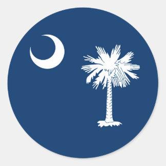 South Carolina State Flag Decor Classic Round Sticker