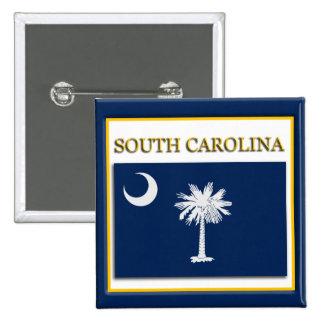 South Carolina State Flag Design Button