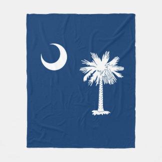 South Carolina State Flag Design Decor Fleece Blanket