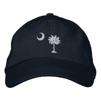 South Carolina State Flag Design Embroidered Baseball Caps