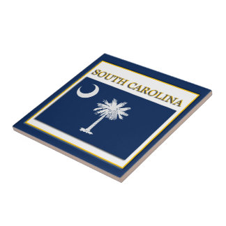 South Carolina State Flag Design Tile