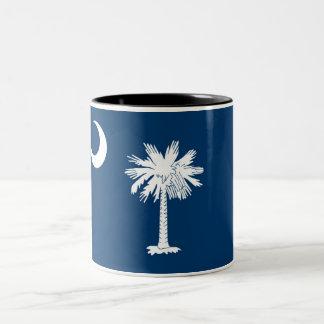 South Carolina State Flag Two-Tone Coffee Mug