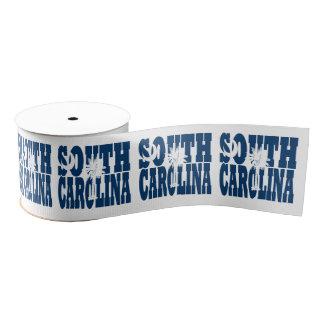 South Carolina state flag typography design Grosgrain Ribbon