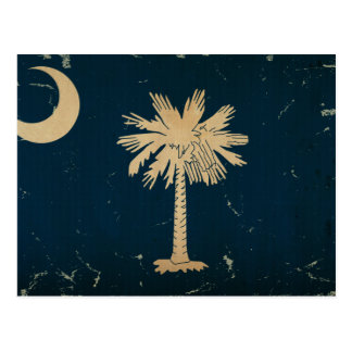 South Carolina State Flag VINTAGE.png Postcard