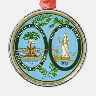 South Carolina state seal america republic symbol Silver-Colored Round Decoration