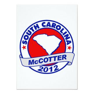 "South Carolina Thad McCotter 5"" X 7"" Invitation Card"