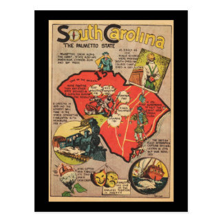 South Carolina The Palmetto State Postcard