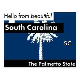 South Carolina The Palmetto State Postcard