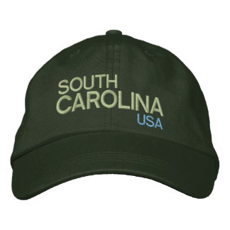 South Carolina* USA Adjustable Hat Embroidered Cap
