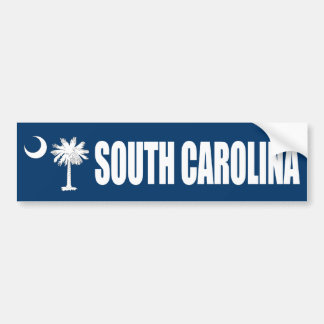 South Carolina with State Flag Bumper Sticker