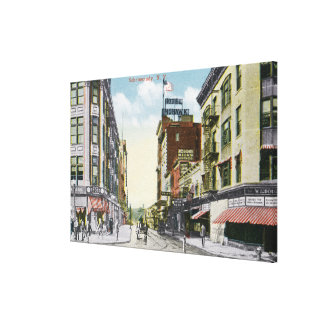 South Centre Street View of Hotel Mohawk Canvas Print