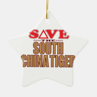 South China Tiger Save Ceramic Star Decoration
