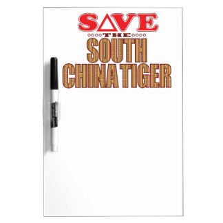 South China Tiger Save Dry Erase Board