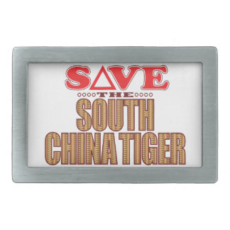 South China Tiger Save Rectangular Belt Buckle
