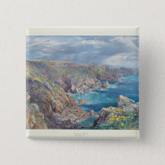 South Coast of Guernsey from the Cribiere, 1862 (w 15 Cm Square Badge