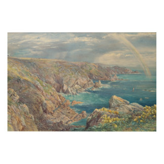 South Coast of Guernsey from the Cribiere, 1862 (w Wood Wall Decor