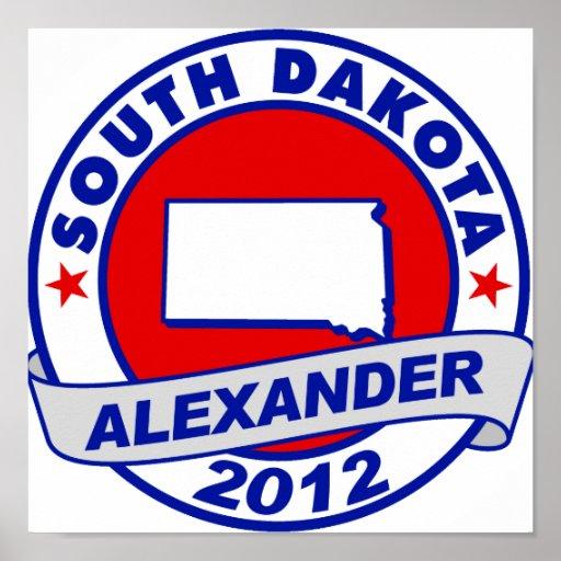 South Dakota Alexander Print