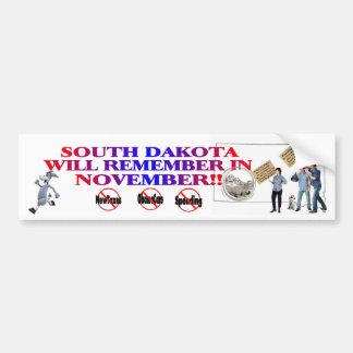 South Dakota  Anti ObamaCare, New Taxes & Spending Bumper Sticker