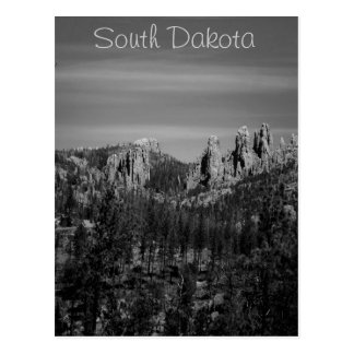 South Dakota B/W postcard